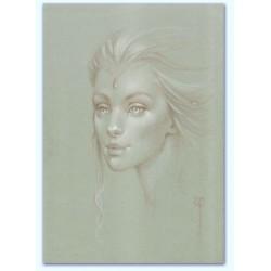 Portrait femme de trois quart